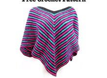 poncho crochet pattern, free crochet pattern, goddess crochet, poncho
