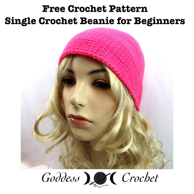 Free Crochet Pattern with Video Tutorial - Single Crochet Beanie