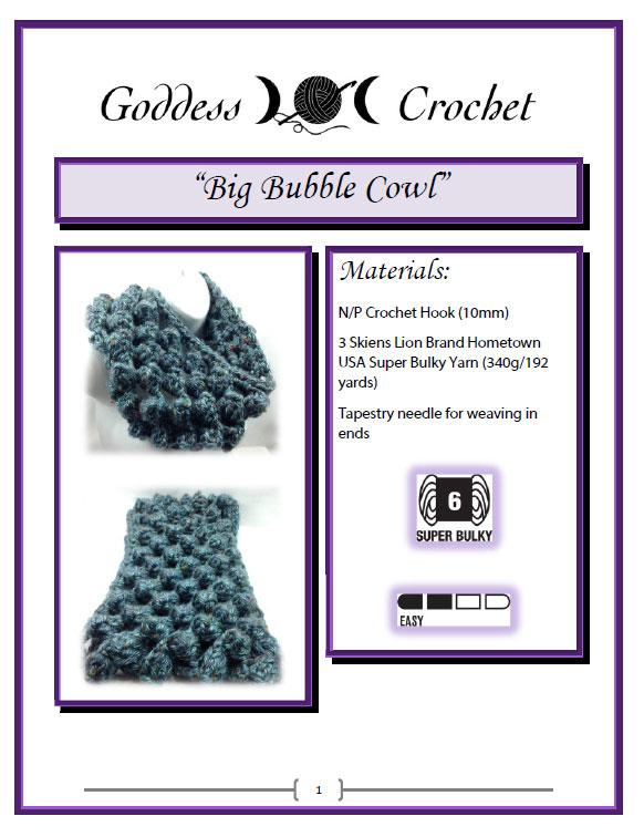 Big Bubble Cowl Crochet Pattern Screenshot