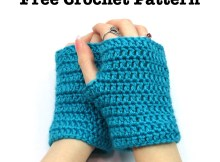 Easy Wrist Warmers Fingerless Gloves - Free Crochet Pattern