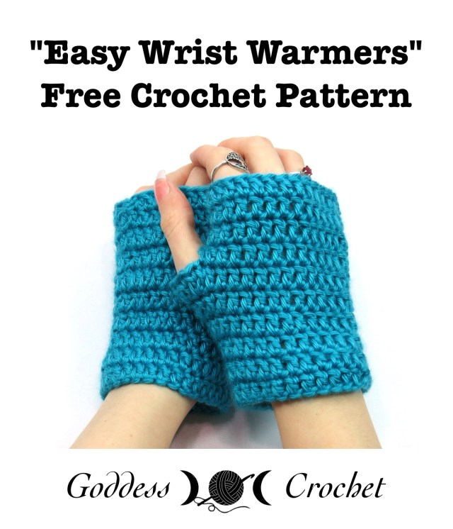 Easy Wrist Warmers Fingerless Gloves Free Crochet Pattern