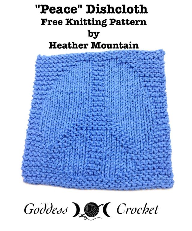 Peace Dishcloth - Free Knitting Pattern