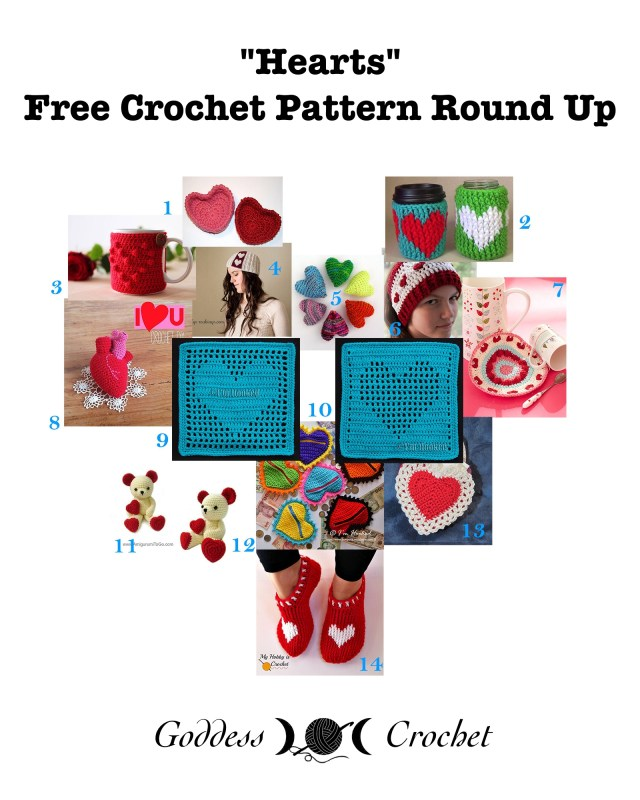 Hearts - Free Crochet Pattern Round Up