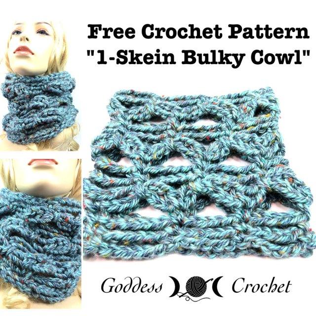 One Skein Bulky Cowl - Free Crochet Pattern