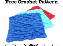 Wavy Lines Dishcloth - Free Crochet Pattern