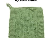 Free Knitting Pattern - Shamrock Dishcloth