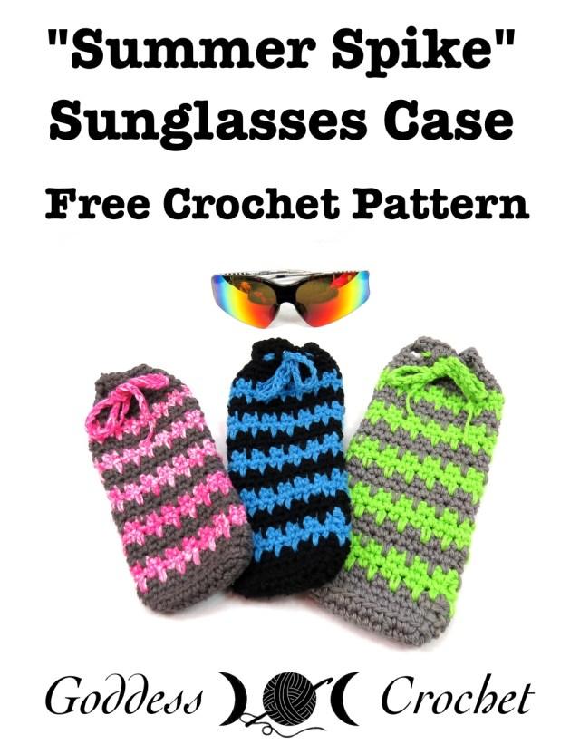 Summer Spike Sunglasses Case - Free Crochet Pattern
