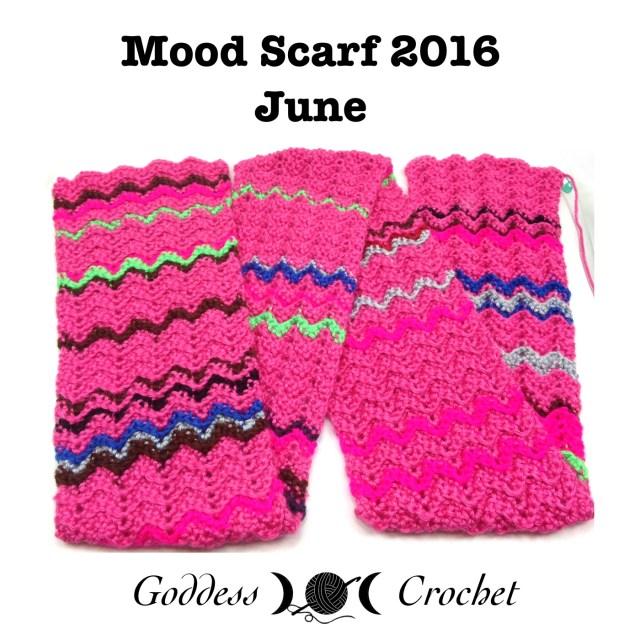Crochet Mood Scarf 2016 - June