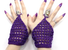Belly Dancer Gloves - Free Crochet Pattern