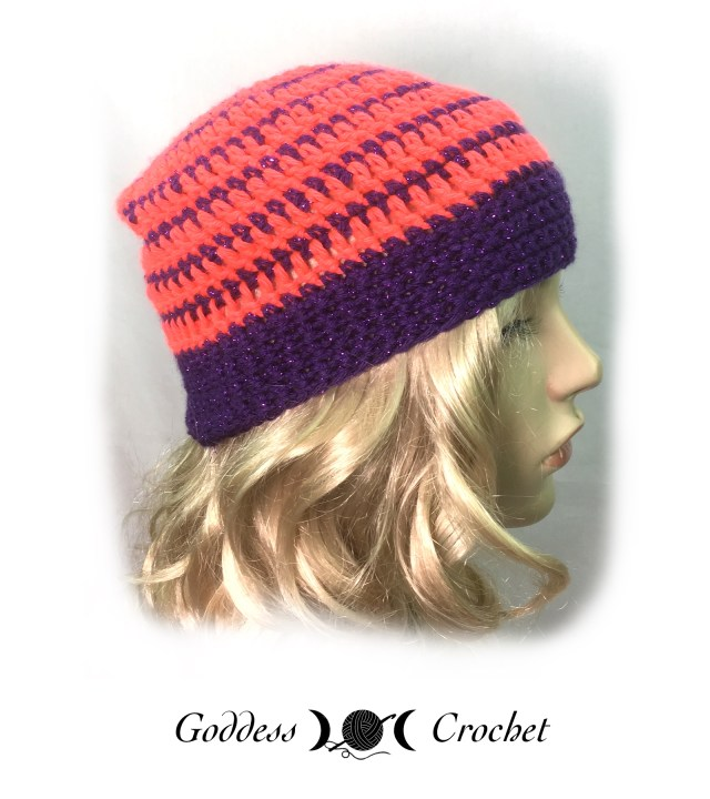 Pinstripes Hat Child Size - Goddess Crochet