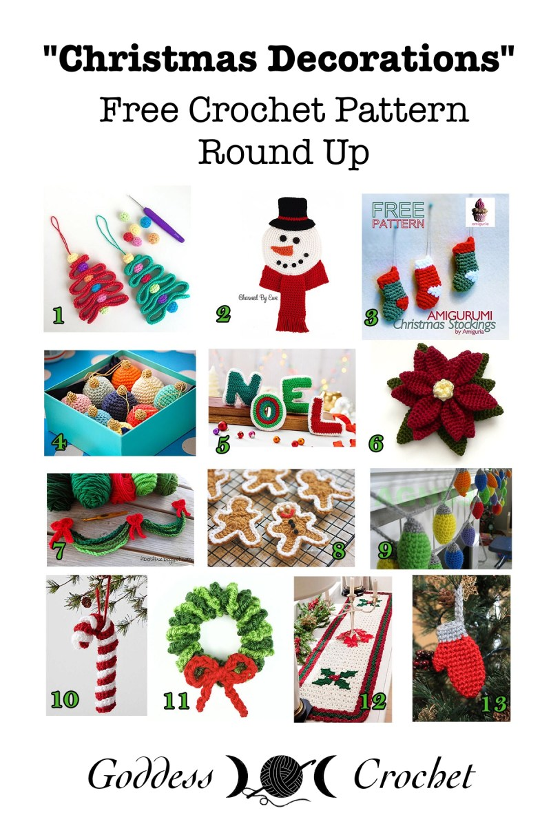 Christmas Decorations Free Crochet Pattern Round Up Goddess Crochet