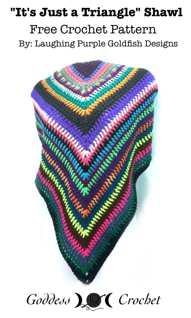 It's Just a Triangle Shawl - Free Crochet Pattern
