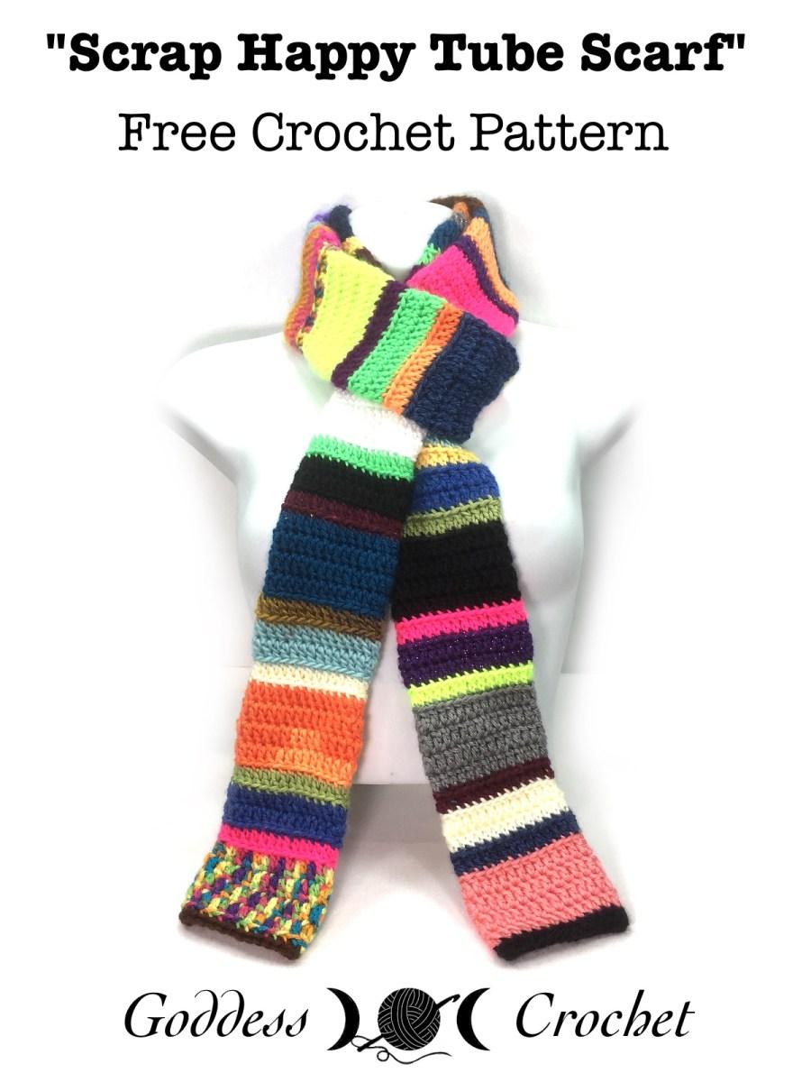 Scrap happy tube scarf free crochet pattern goddess crochet bankloansurffo Gallery