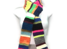 Scrap Happy Tube Scarf - Free Crochet Pattern