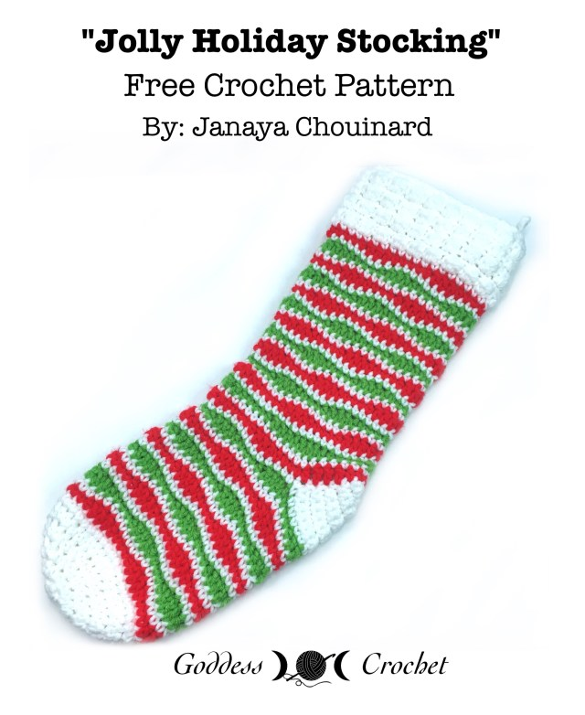 Jolly Holiday Stocking - Free Crochet Pattern
