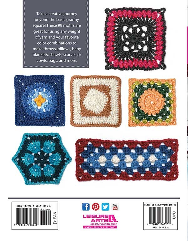 99 Granny Squares - Crochet Pattern Book Review