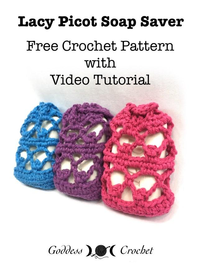Lacy Picot Soap Saver Free Crochet Pattern With Video Tutorial
