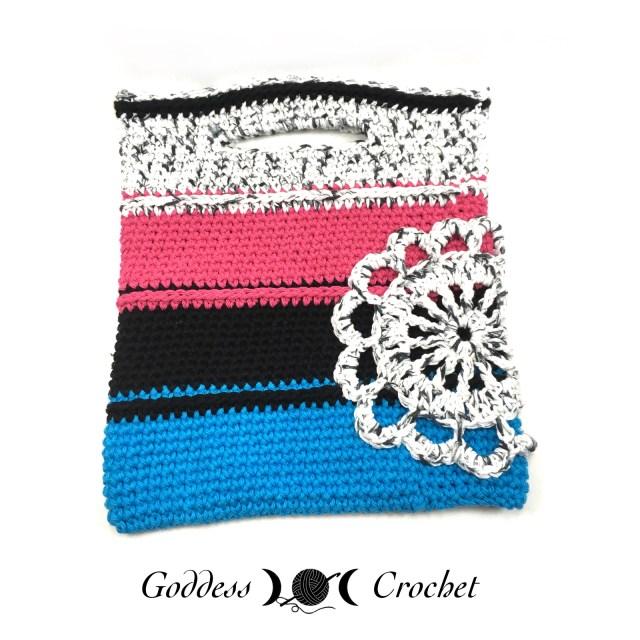 Striped Bag - Goddess Crochet
