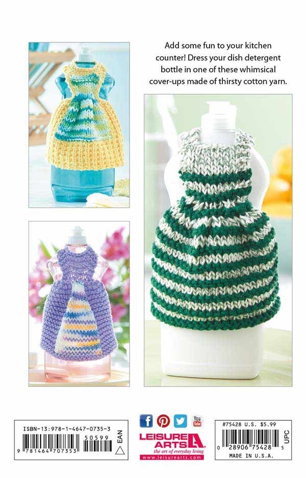 Dishcloth Dresses - Knitting Pattern Book from Leisure Arts