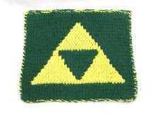 Triforce Dishcloth - Free Knitting Pattern