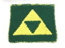 Triforce Dishcloth - Free Knitting Pattern