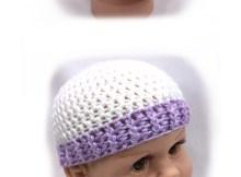 Ribbed Brim Baby Beanie - Free Crochet Pattern