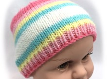 Basic Baby Beanie - Free Knitting Pattern