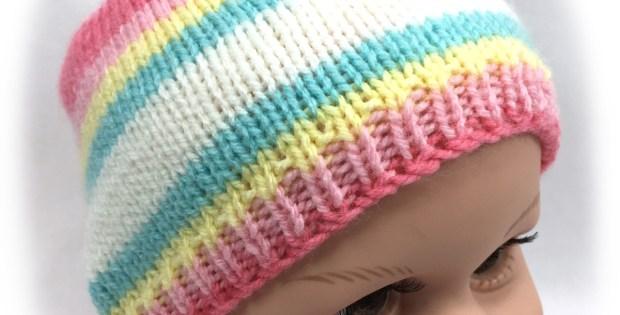 Basic Baby Beanie - Free Knitting Pattern
