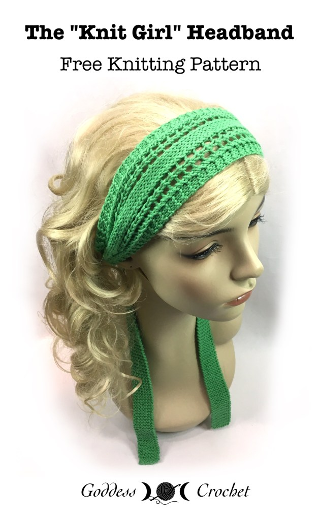 The Knit Girl Headband Free Knitting Pattern Goddess Crochet
