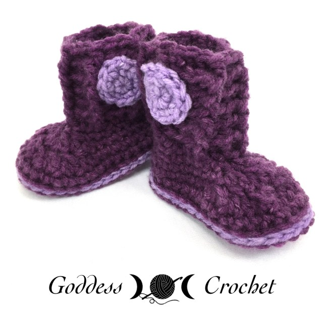 Cuffed Boot Baby Booties