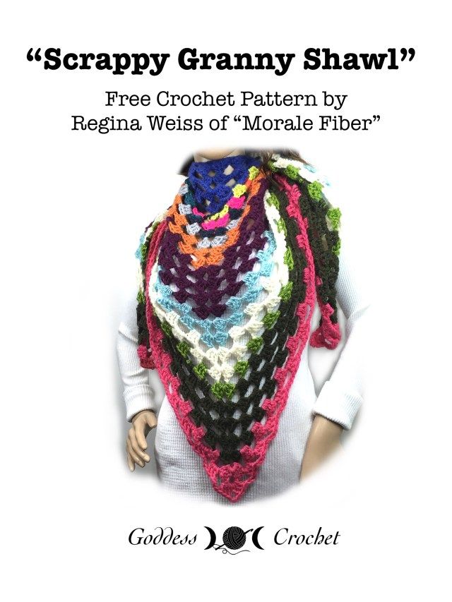 Scrappy Granny Shawl - Free Crochet Pattern by Regina Weiss
