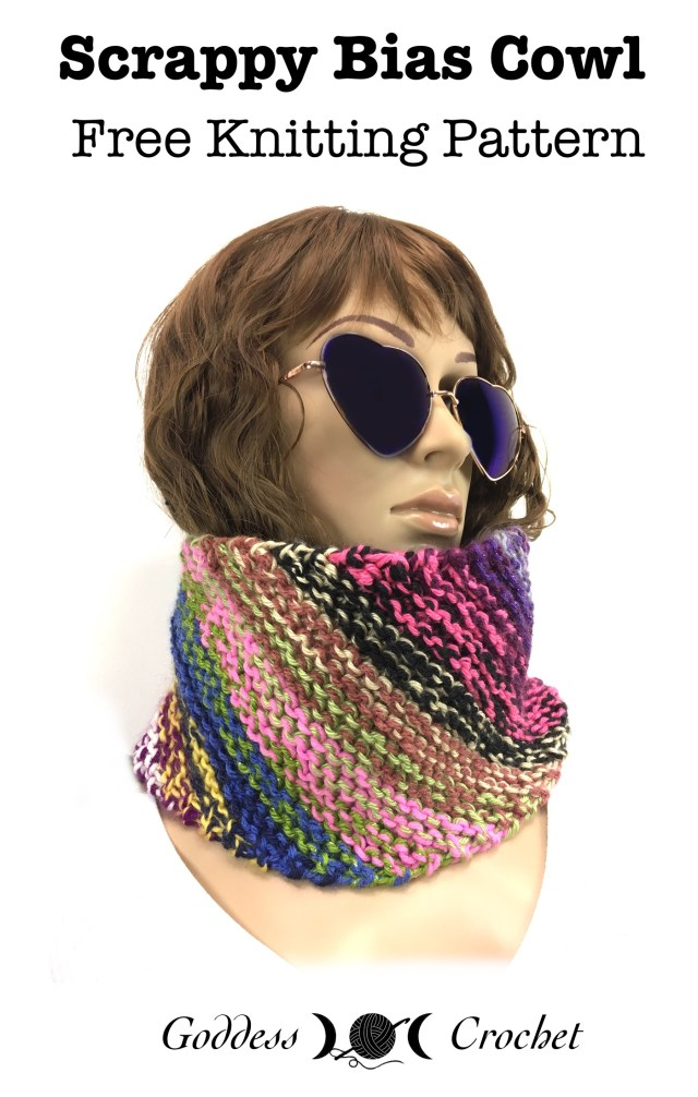 Knitting On The Bias Shawl Pattern : Scrappy bias cowl free knitting pattern goddess crochet