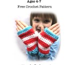 """Kiddie Wristers"" Fingerless Gloves - Free Crochet Pattern"