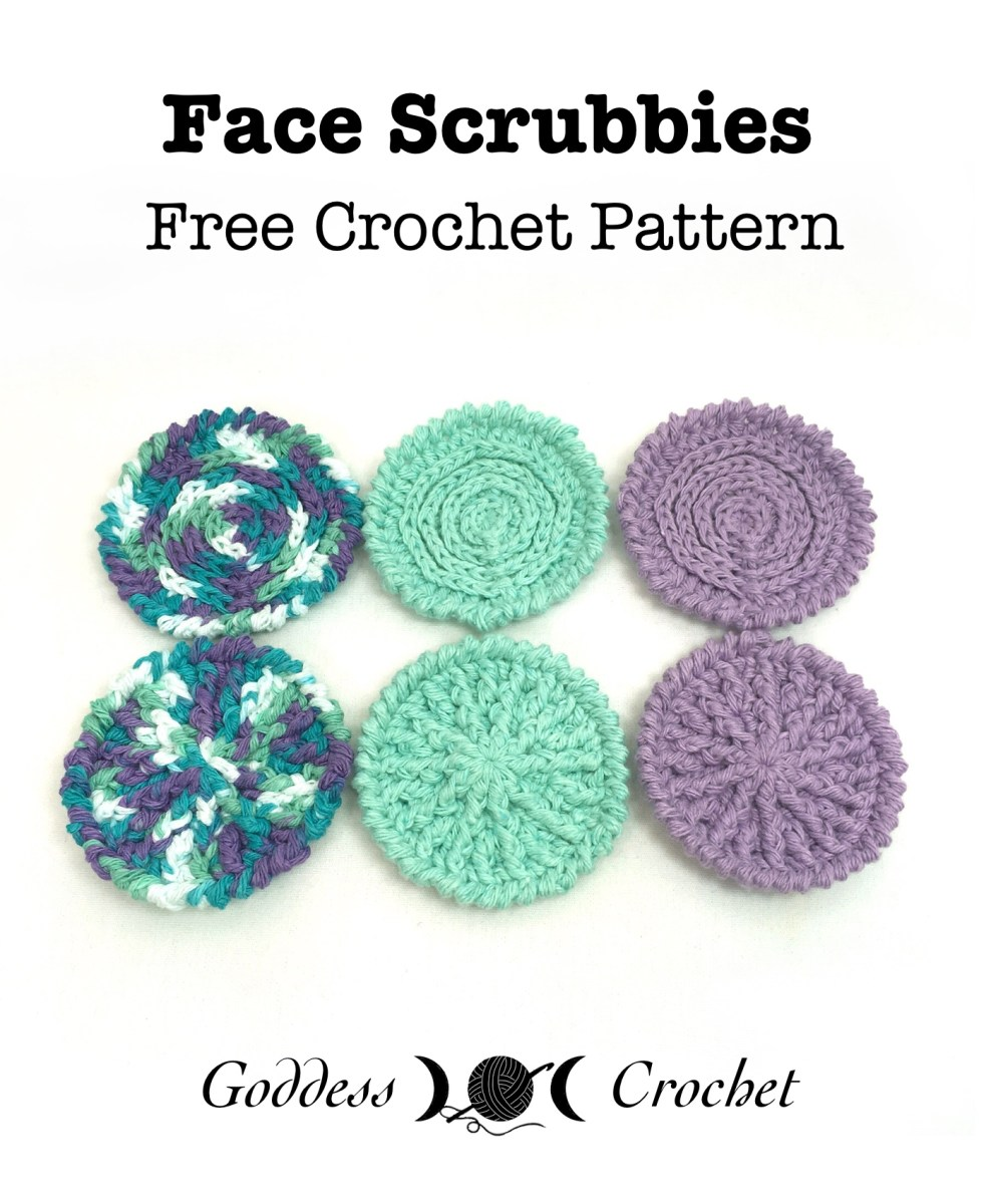 Face Scrubbies – Free Crochet Pattern – Goddess Crochet