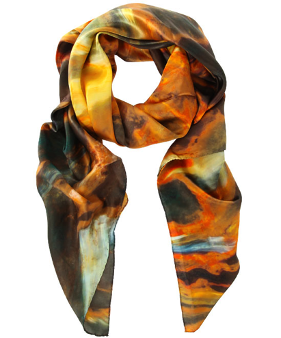 Orange Pietersite Print Silk Scarf, Weston Scarves £165.00 available from www.liberty.co.uk