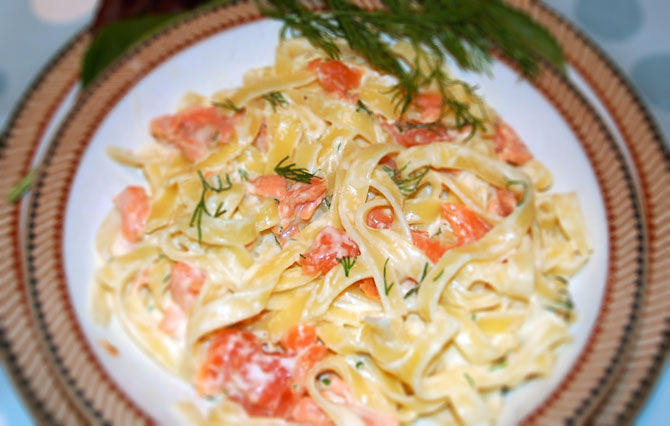 Tagliatelle of Smoked Salmon