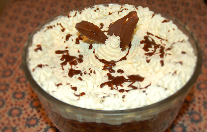 Ten Minute Chocolate Trifle