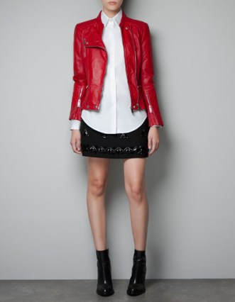 COMBINATION QUILTED leather JACKET 219.00 EUR from Zara