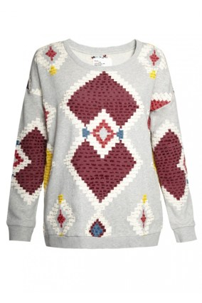 For the Global Traveller, I love this intarsia sweater by Leon & Harper