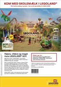 Skolemælk børnebillet LEGOland