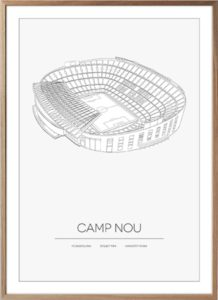 Camp Nou plakat med stadion illustration