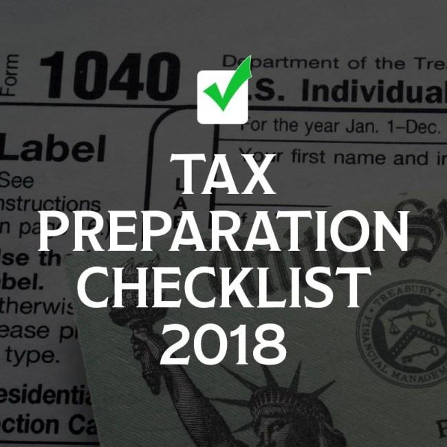 tax preparation checklist 2018