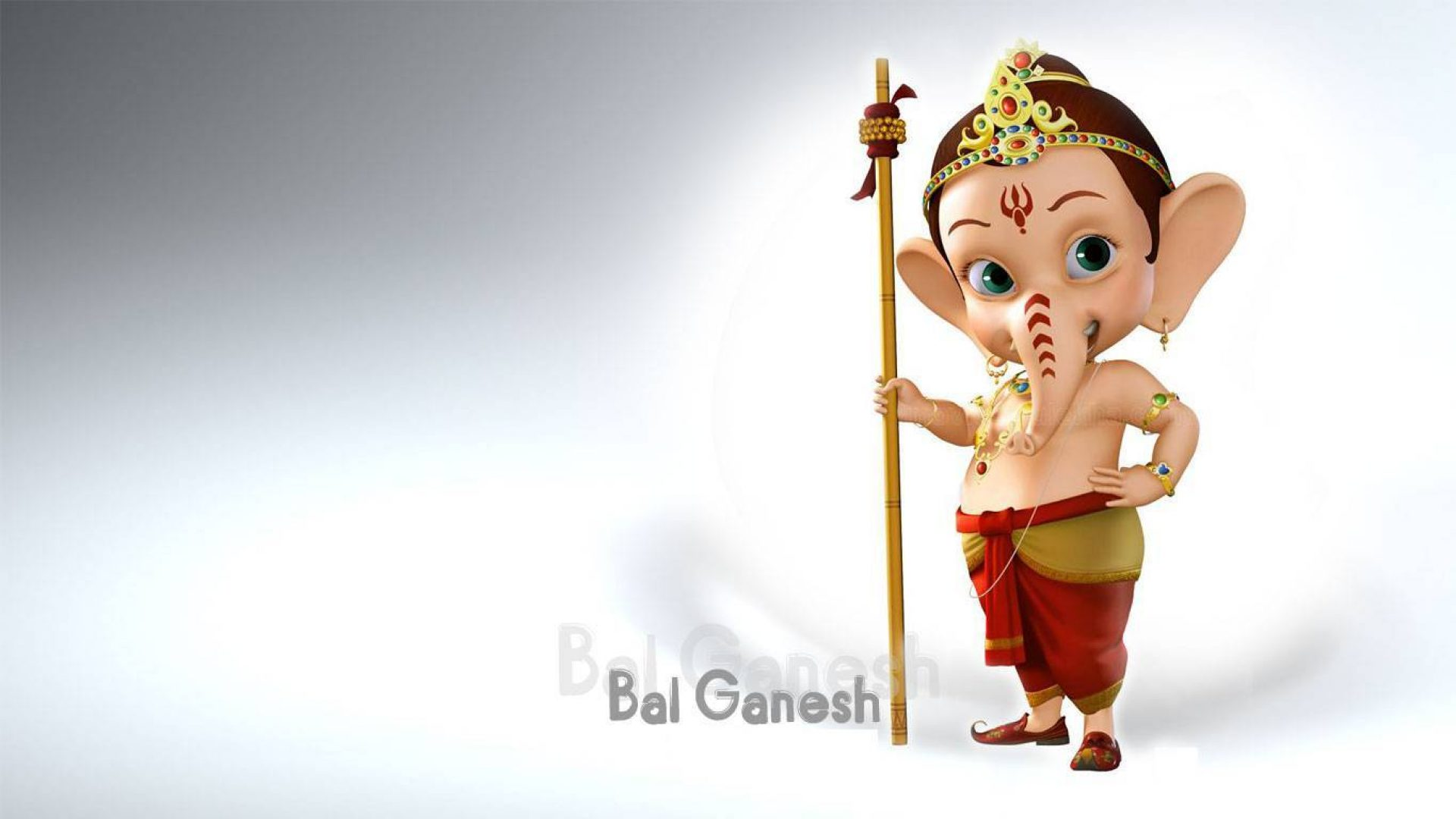 Www Hindu God Wallpaper Com Cute Ganeshji Little Bal Ganesh 3d Hd Wallpaper 1366 215 768 Hindu Gods