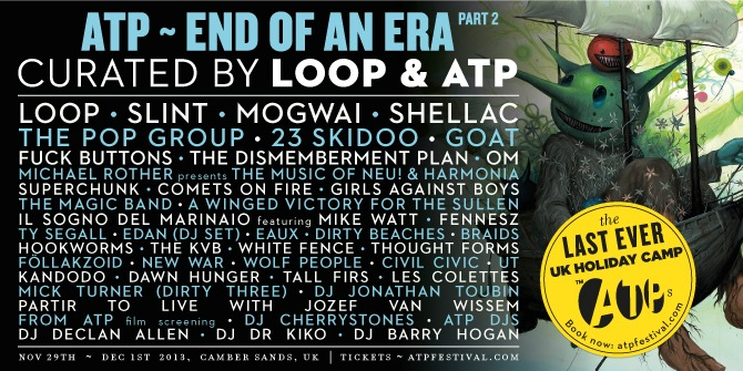 All Tomorrow's Parties – End Of An Era Part 2 – Camber Sands, 29th November- 1st December 2013