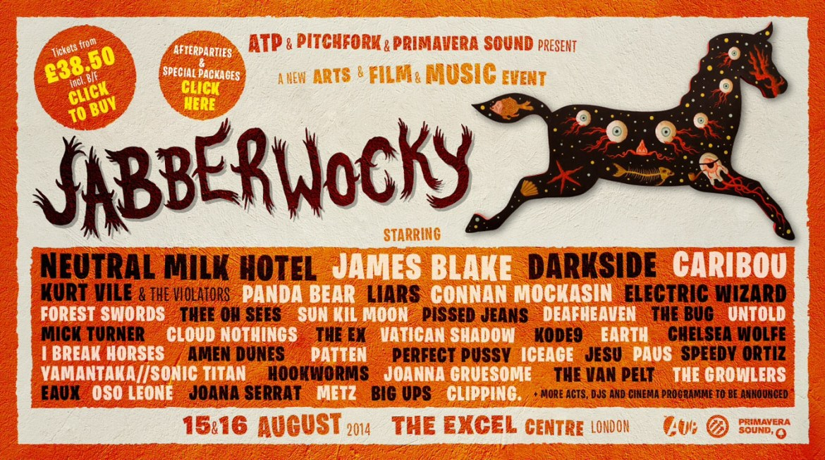 Jabberwocky Festival further line up announcements,15th -16th August 2014, Excel Centre, London