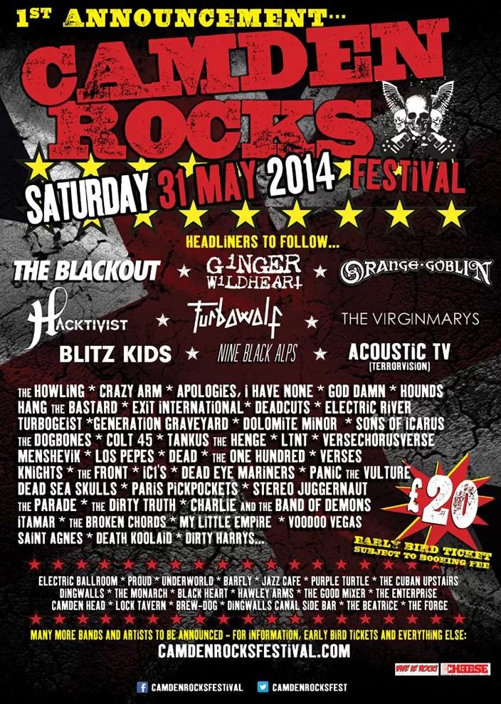 Camden Rocks Festival – 31st May 2014