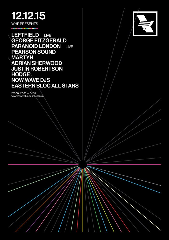 PREVIEW:  Leftfield, Warehouse Project, Manchester