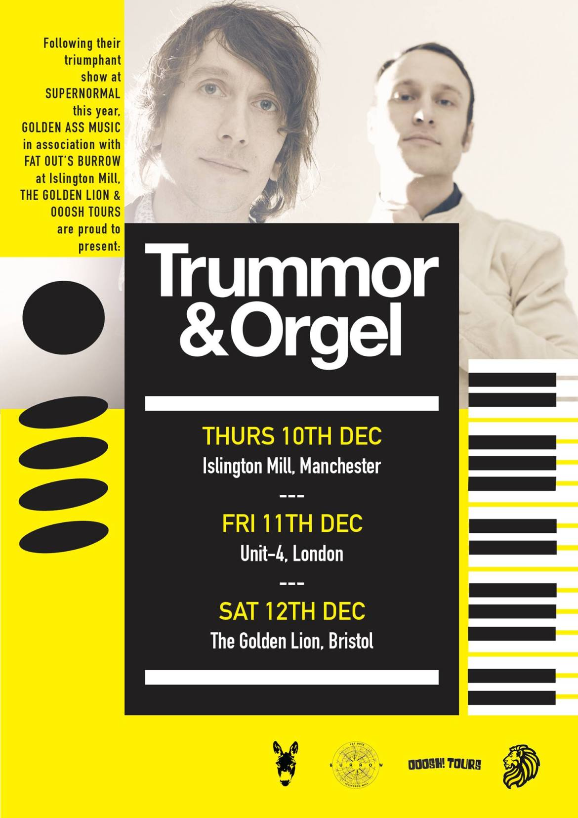 NEWS: Trummor & Orgel UK mini-tour