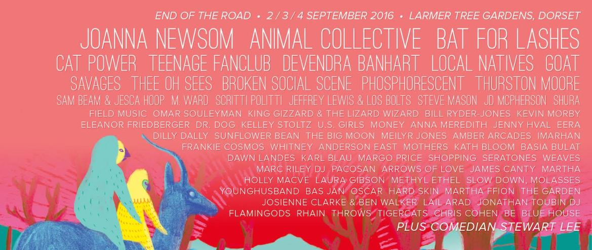NEWS:  Teenage Fanclub, Anna Meredith and Jenny Hval join End of the Road 2016