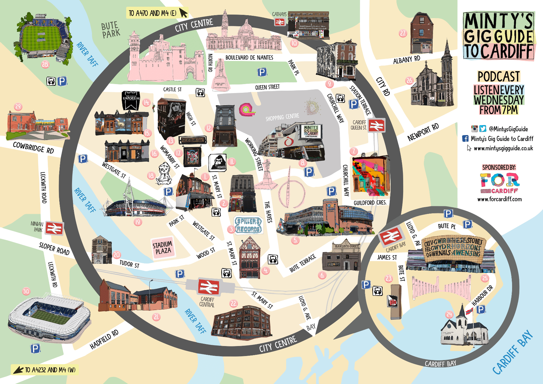 NEWS Minty For Cardiff Launch Map of Cardiff Venues God Is In